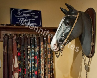 belts for sale in a leather shop, in the gaucho town of San Antonio de Areco—about 70 miles north of Buenos Aires.