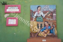 Outdoor wall art in Caminito