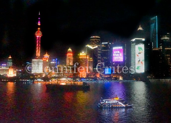 Pudong and the Huangpu River at night