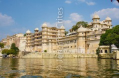 Udaipur City Palace on the shores of Lake Pichola