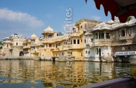 Udaipur's old city on Lake Pichola
