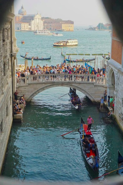 view from Bridge of Sighs to the Venice lagoon.
